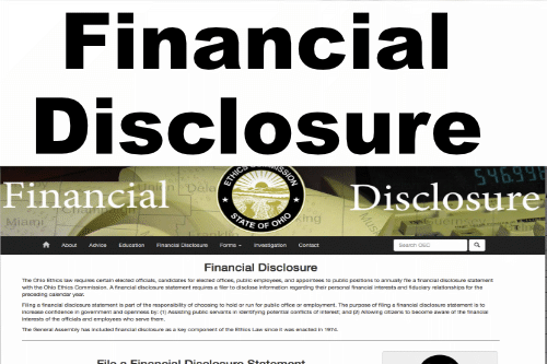 Ohio Ethics Financial Disclosure