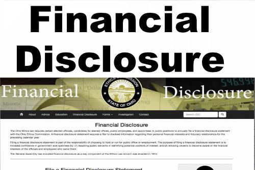 Ohio Ethics Financial Disclosure
