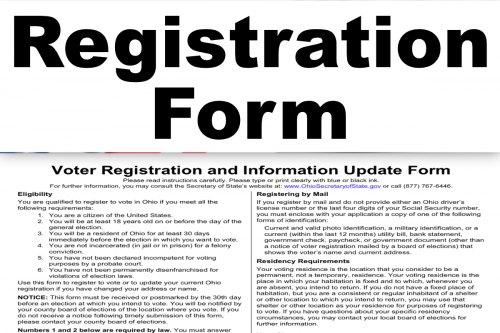 Register or Update Your Registration